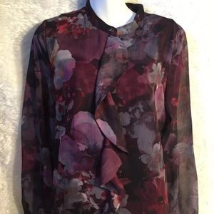 Christopher banks floral blouse small